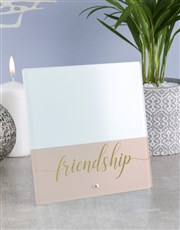 Personalised Friendship Glass Tile