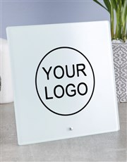 Personalised Your Company Logo Blank Glass Tile