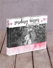 Personalised Sending Kisses Acrylic Block