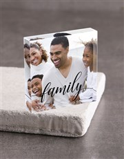 Personalised Family Acrylic Block