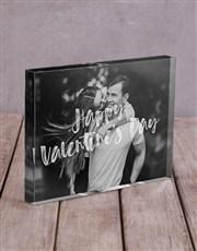 Personalised Happy Valentinesday Acrylic Block