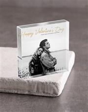 Personalised Valentines Day Acrylic Block