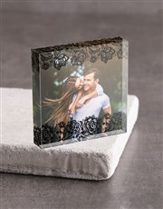 Personalised Boarder Acrylic Block
