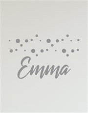 Personalised Dotted Name Wall Vinyl