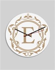 Personalised Gold Monogram Clock