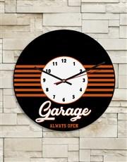 Personalised Garage Clock