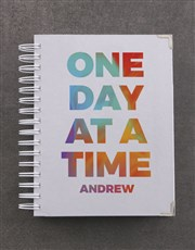 Personalised One Day At A Time Goal Journal