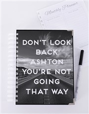 Personalised Don't Look Back Goal Journal