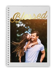 Personalised Photo Blessed Notebook