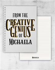 Personalised Creative Genius Notebook