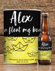 Personalised Boat Float Craft Beer