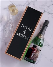 Personalised Sparkling Wine and Crate