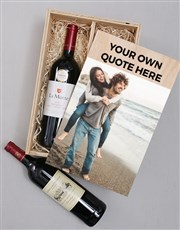 Personalised Photo Duo Wine Crate