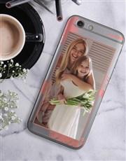 Personalised Brushstroke Photo iPhone Cover