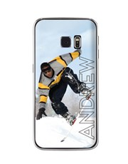 Personalised Ghost Text Photo Samsung Cover