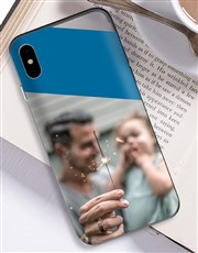 Personalised Colour Block Photo iPhone Cover