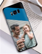Personalised Colour Block Photo Samsung Cover