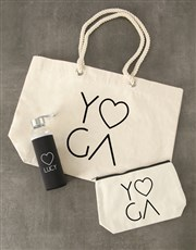 Personalised Yoga Waterbottle and Tote