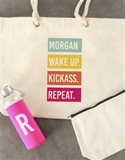 Personalised Initial Waterbottle and Tote