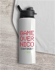 Personalised Level Water Bottle And T Shirt