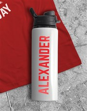 Personalised Leg Day Water Bottle And T Shirt