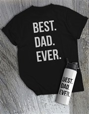 Personalised Best Dad Water Bottle And T Shirt