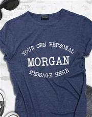 Personalised Navy Ladies T Shirt