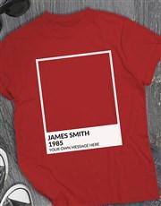 Personalised Blank Polaroid T Shirt