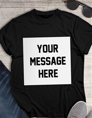 Personalised Message Black T Shirt