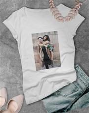 Personalised  Photo Ladies T Shirt