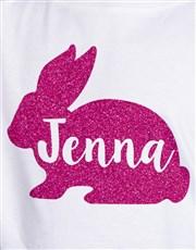 Personalised Glitter Bunny Kids T Shirt