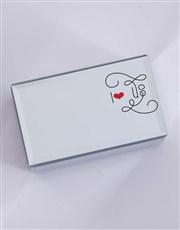 Personalised I Heart Us Mirror Trinket Box
