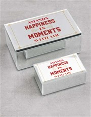 Personalised Happiness Is Mirror Trinket Box