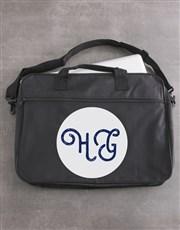 Personalised Cursive Initials Laptop Bag