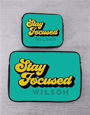 Personalised Stay Focused Tablet or Laptop Sleeve
