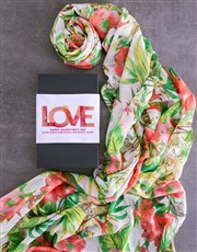 Personalised Valentines Scarf Gift