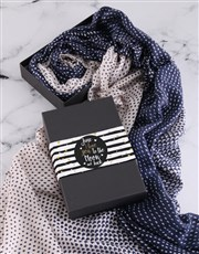 Personalised To The Moon And Back Scarf Gift