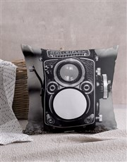 Personalised Vintage Camera Cushion