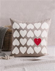 Personalised Hearts Scatter Cushion