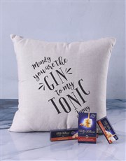 Personalised Gin And Tonic Scatter Cushion