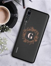 Personalised Flower Crown Huawei Cover