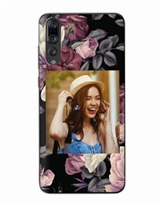 Personalised Floral Photo Huawei Cover