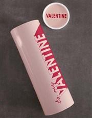 Personalised Valentine Biltong and Nut Tube