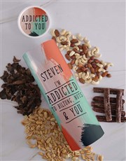 Personalised Addicted Biltong and Nut Tube