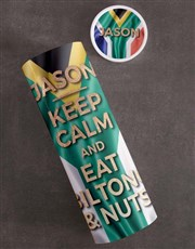 Personalised Keep Calm Biltong and Nut Tube