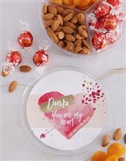 Personalised Lovers Delight Nut Tub