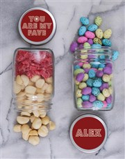 Personalised Fave Fruit and Nut Jar Set