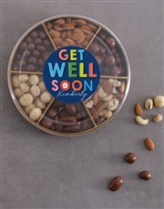 Personalised Get Well Nuts Tray