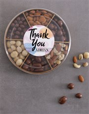 Personalised Thank You Nuts Tray