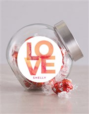 Personalised Love Candy Jar